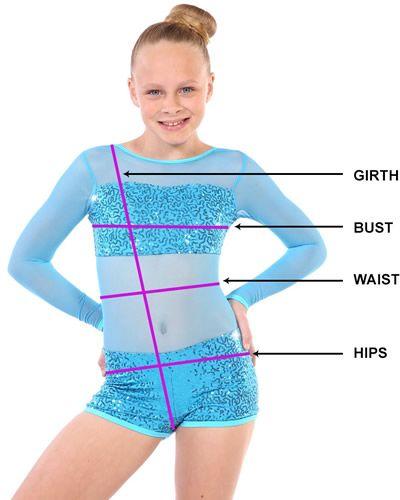 kinetics dance costume measurements
