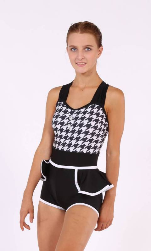 TIC TOC SHORTARD - Houndstooth and black