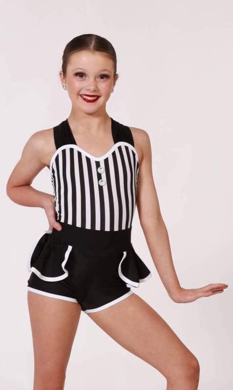 TIC TOC SHORTARD - Black and White Stripe