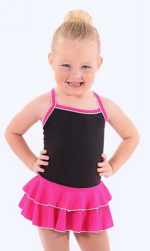 Baby Leo with 2 Layer Skirt KCDC - Black + Pink (Beetroot)