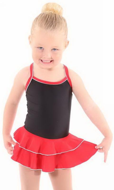 Baby Leo, 2 Layer Skirt MATT NYLON LYCRA Dance Costume