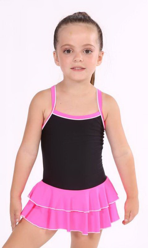 Baby Leo, 2 Layer Skirt MATT NYLON LYCRA Dance Studio Uniform