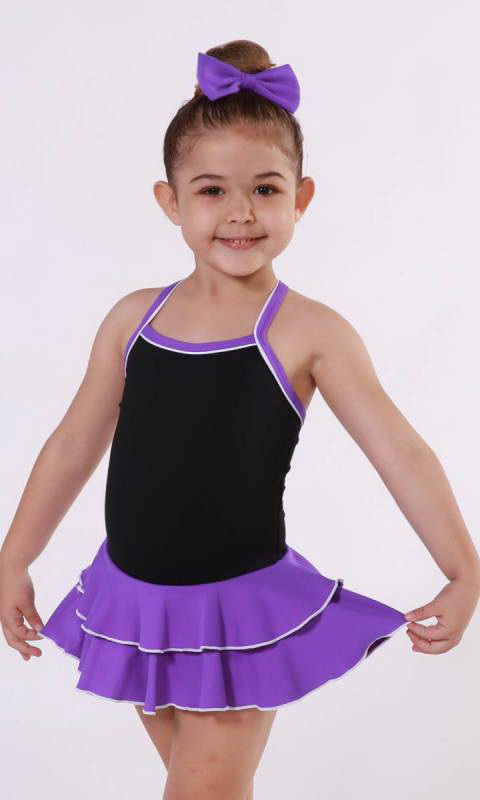 Baby Leo 2 LAYER SKIRT Supplex Dance Studio Uniform