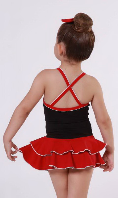 BABY LEO SUPPLEX - Black + Scarlet + White