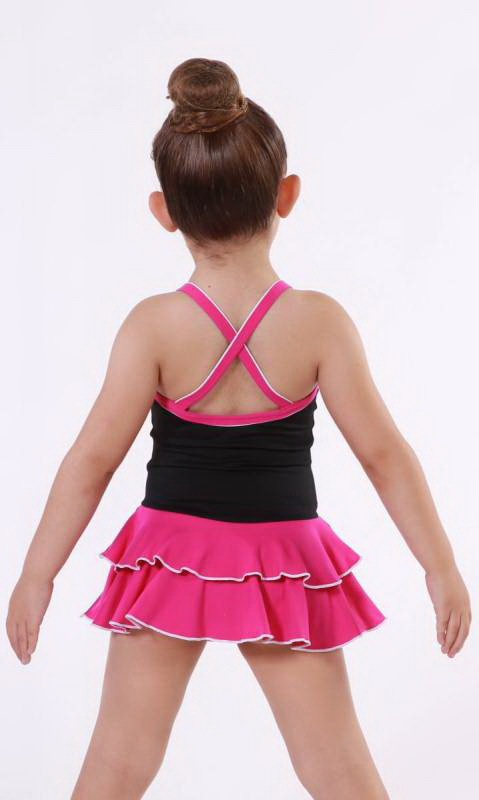 BABY LEO SUPPLEX - Black + Shocking Pink + White
