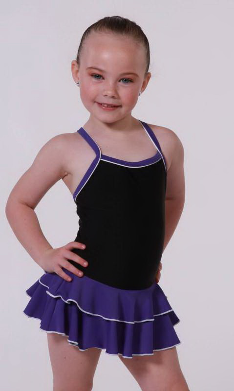 Baby Leo 2 LAYER SKIRT Supplex Dance Costume