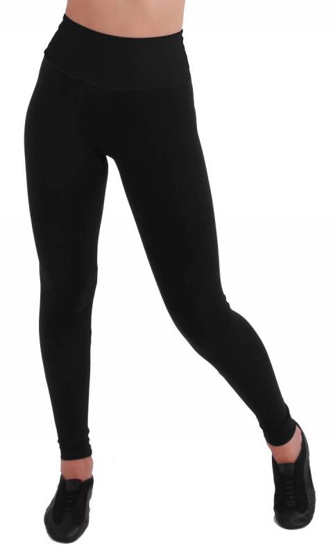 LAURA TIGHTS - BLACK WITH WIDE TAPERED BAN Dance Studio Uniform
