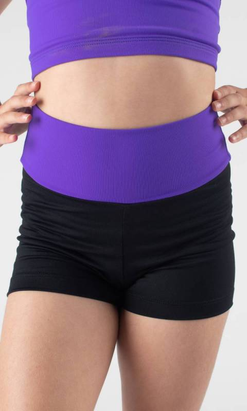 LAURA HOT SHORTS - WIDE TAPPERED BAND Dance Costume