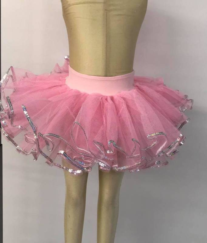 Tutu pants with waistband and sequins Dance Costume