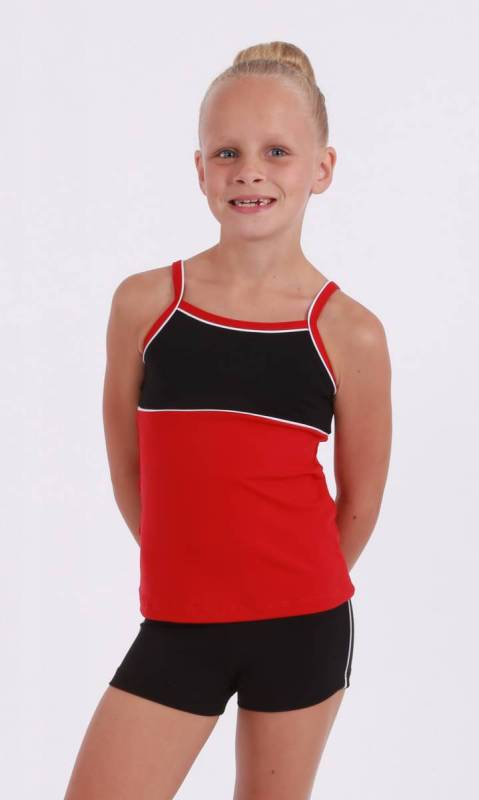 CLASSIQUE TOP - Supplex Scarlet Black and White
