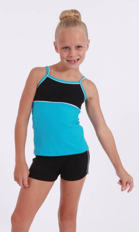 CLASSIQUE TOP - Supplex Aqua Black and White
