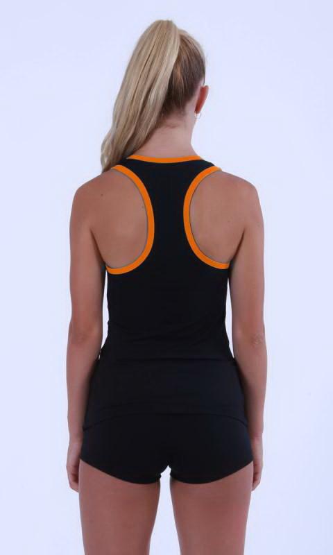 Black + Neon Orange *