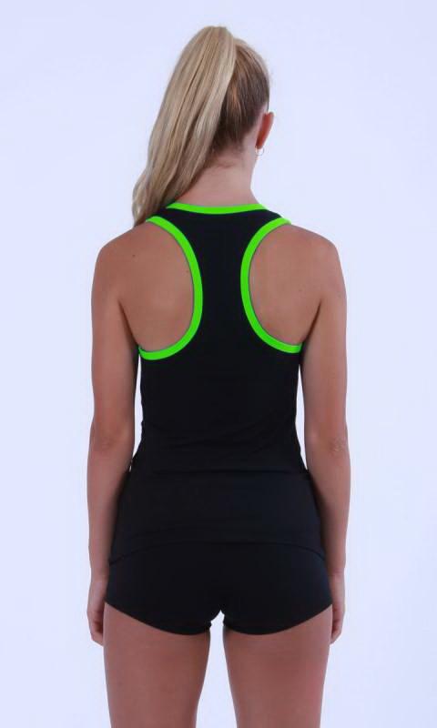 Black + Neon Green