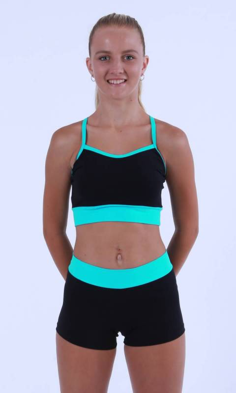 MADDISON Crop top with wide band Dance Costume