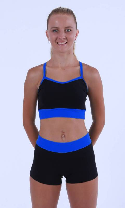 MADDISON Hot Shorts- Black with contrast b Dance Costume