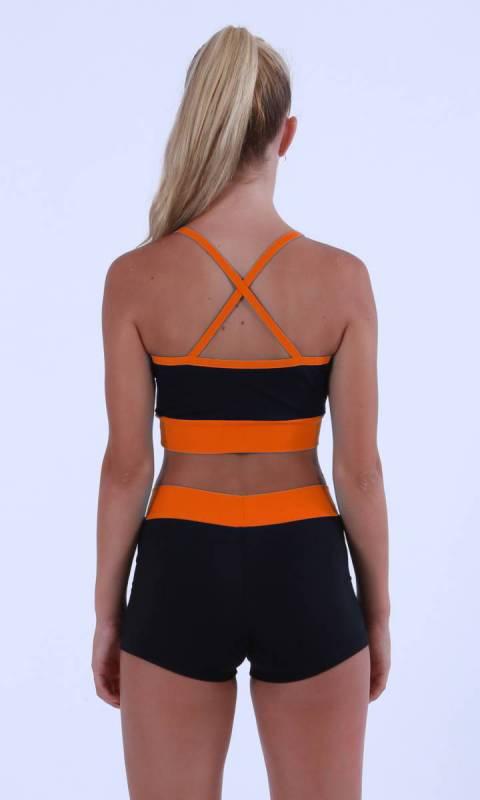 Black + Neon Orange