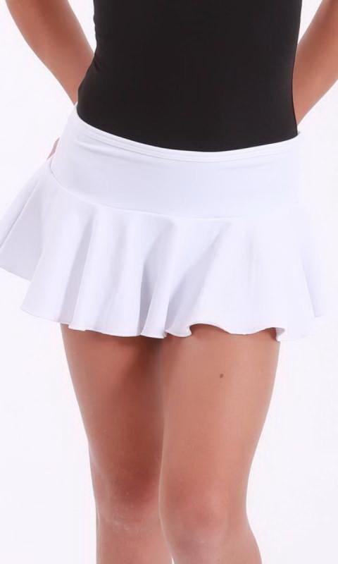 MADDISON Frill Skirt - White