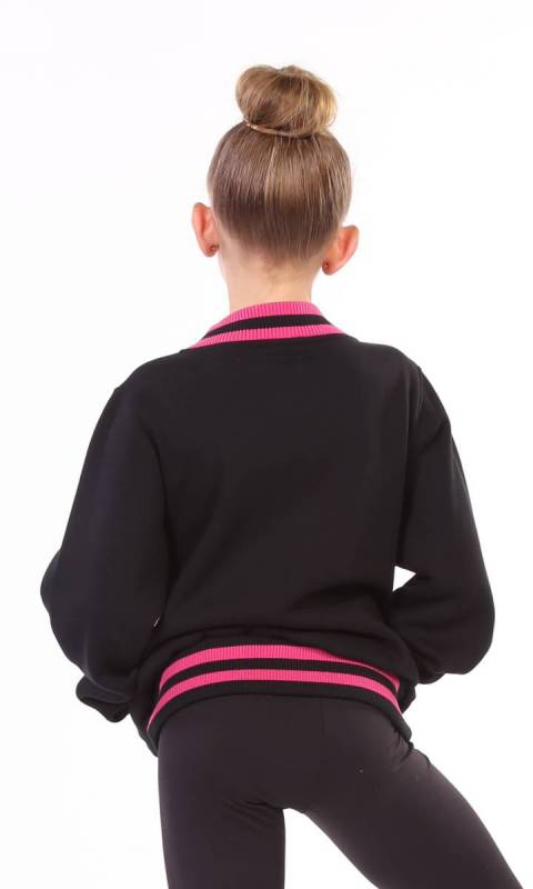 VARSITY JACKET - KC HR - Black + Pink