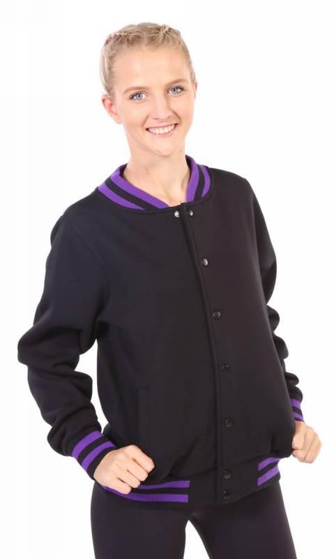 VARSITY JACKET - KC HR - Black + Purple