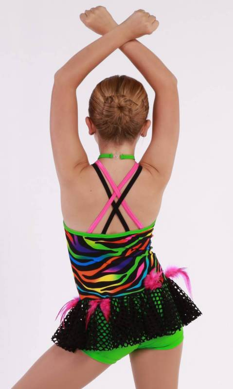 CHAMELEON - Tribal - Multi-coloured sequin layer dress with built in shortard