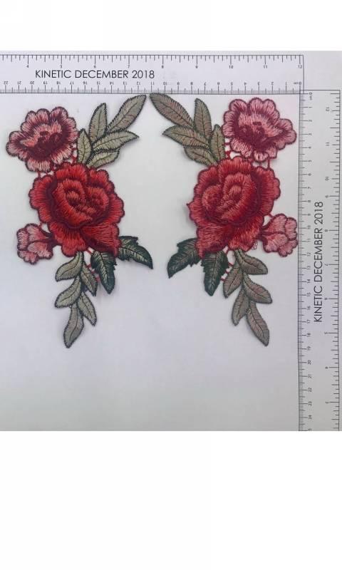 Rose Applique Dance Costume