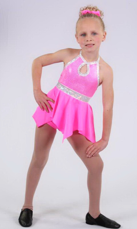HANKY PANKY - Pink sequin lycra pink nylon lycra and silver shattered glass trim
