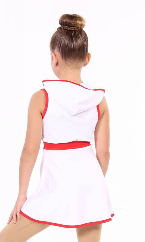Ghostbusters - White cotton lycra and red trim