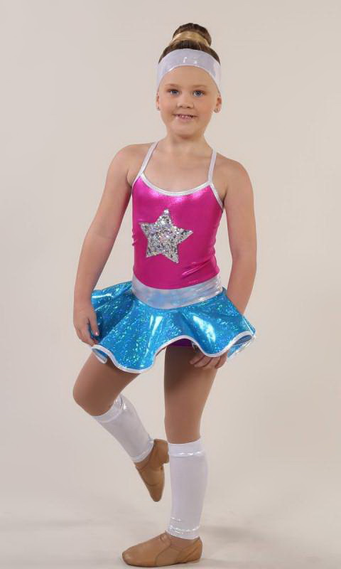 ACTION CHEER + leggings and headband Dance Costume