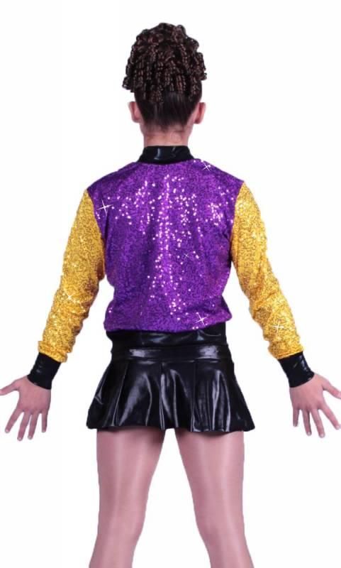 ZSA ZSA COLLEGE JACKET - Purple and Yellow
