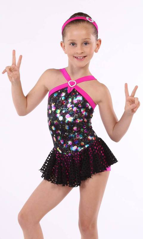 9cc3d7bb52fa CROSS MY HEART - Disco Print Hot Pink And Black ... Sc 1 St Kinetic  Creations - For Dance Costumes And Studio Uniforms. Complete .