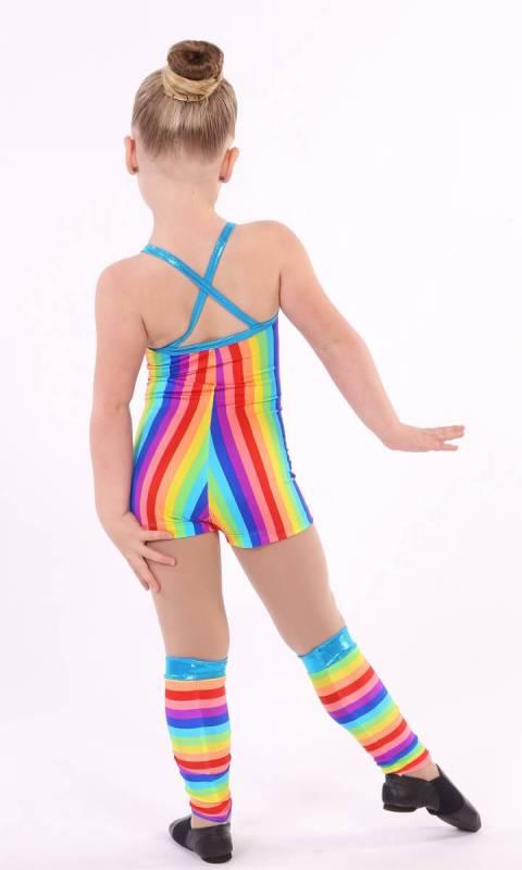 SHORTARD - SPANDEX PRINTS - Rainbow stripe