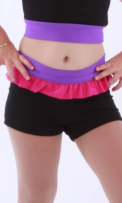 ZARLY Frill hot shorts Dance Studio Uniform