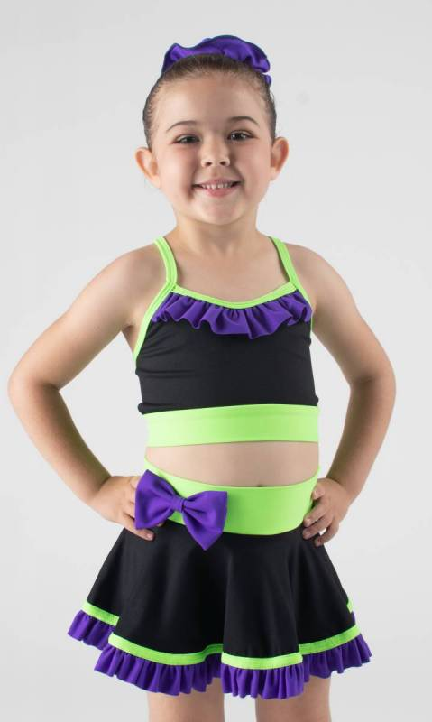 ZARLY frills and bows skirt Dance Costume