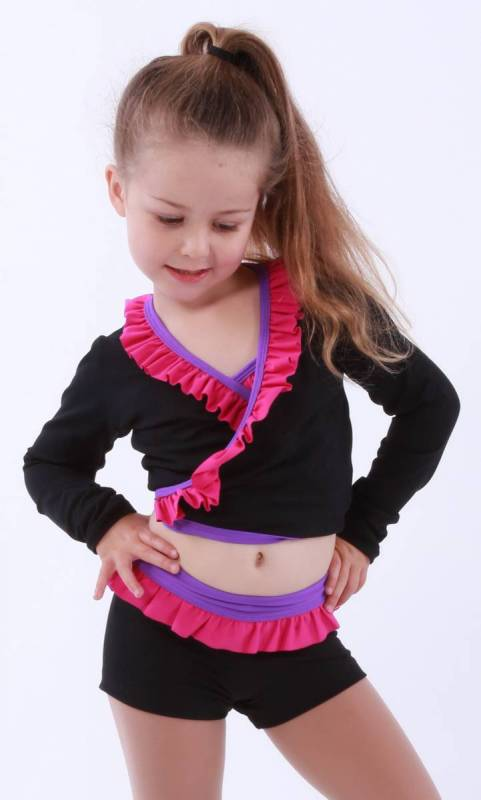 ZARLY - Frill Crossover top Dance Studio Uniform