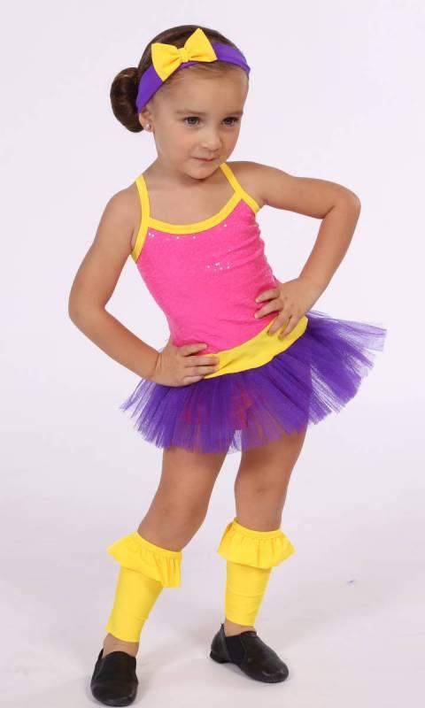 DORA  -  Pink Zsa zsa and orange and purple