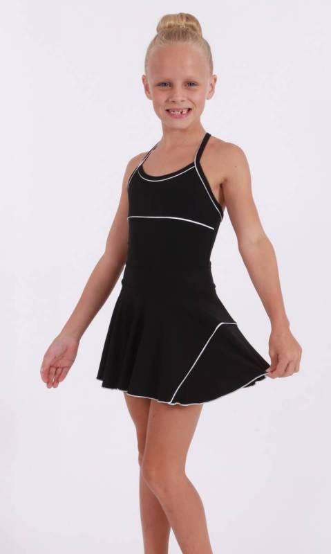 CLASSIQUE panel skirt - Supplex Black, black and white