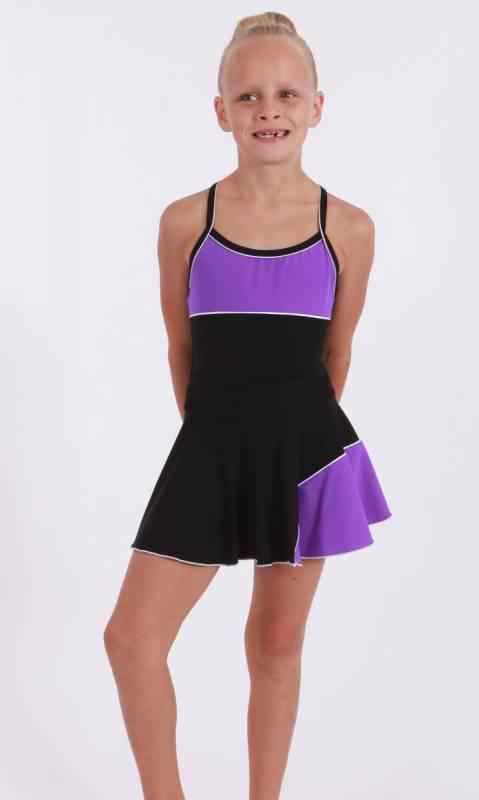 CLASSIQUE panel skirt - Supplex Black, Congo and white
