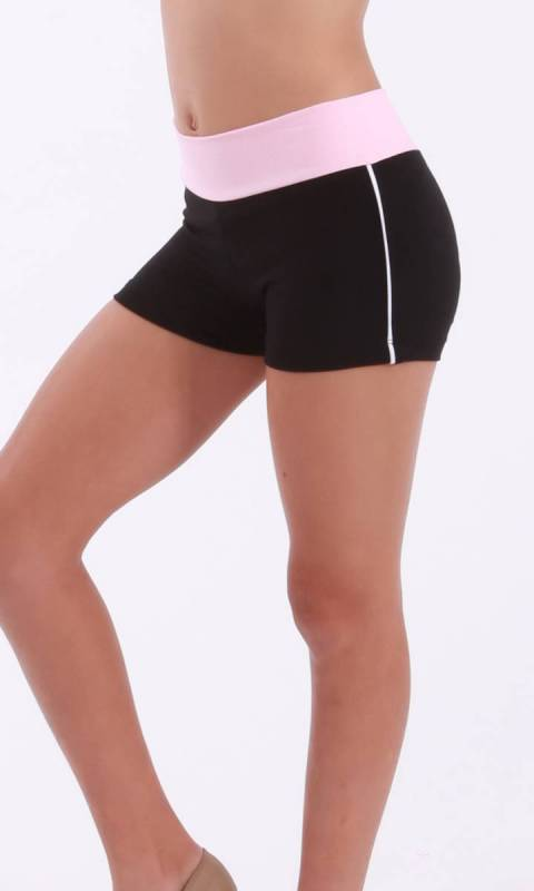 CLASSIQUE shorts - Supplex Black, Ballet pink and white