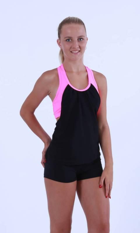 Megan Top-Supplex Crop+Tex-Mesh Dance Studio Uniform