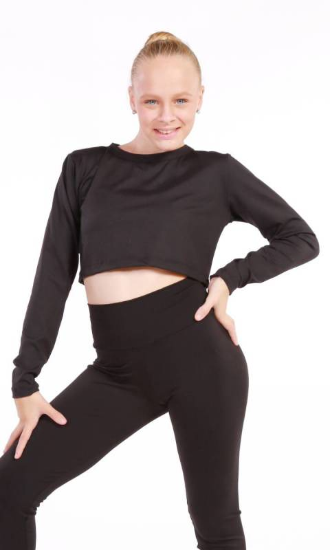 Top - Long Sleeve Cropped Top Dance Costume