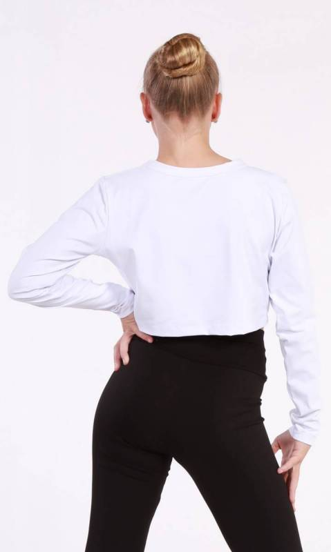 Top - Long Sleeve Cropped Top Dance Studio Uniform