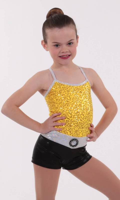DAZZLE SPIN SHORTARD - Yellow Black and silver
