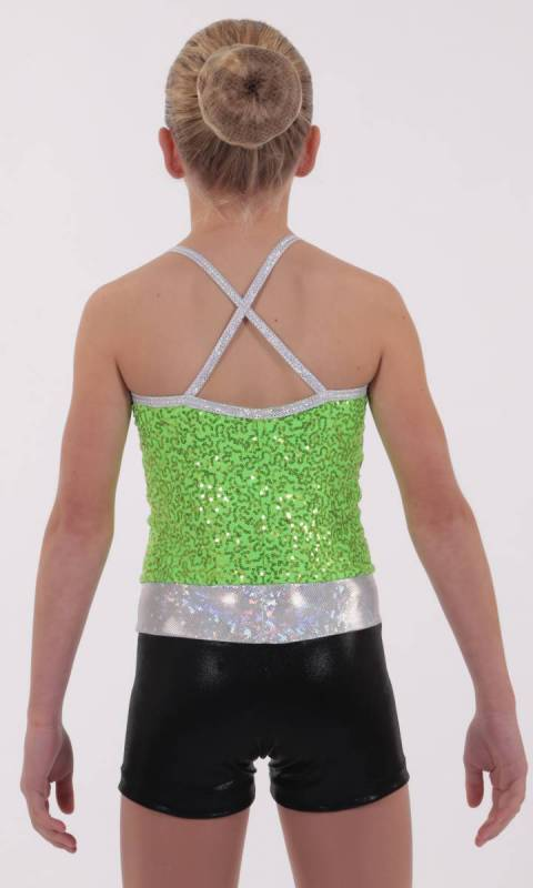 DAZZLE SPIN SHORTARD - Lime Black and silver