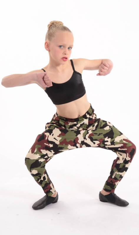 HI HAMMER - Camoflage print Dance Costume