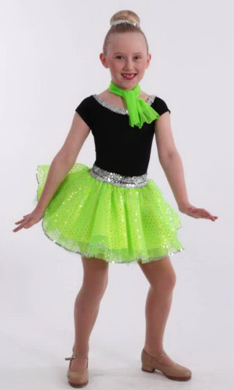 JITTERBUG Skirt and Necktie only - Green