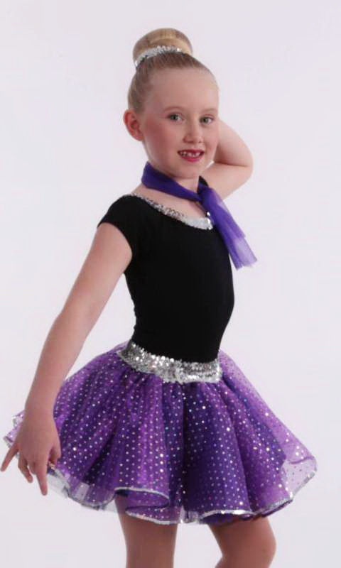 JITTERBUG Skirt and Necktie only - PURPLE