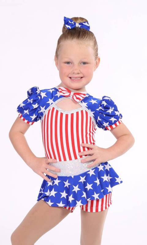 BORN IN THE USA + Hair Bow Dance Costume