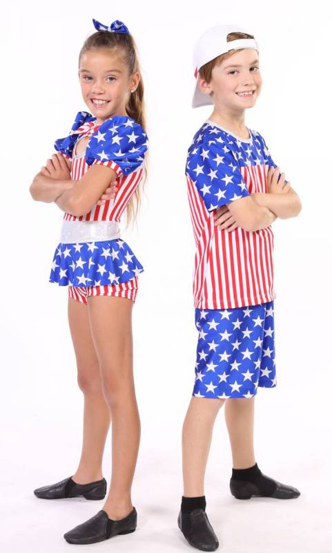 BORN IN THE USA - BOYS COSTUME  - Red white and Blue