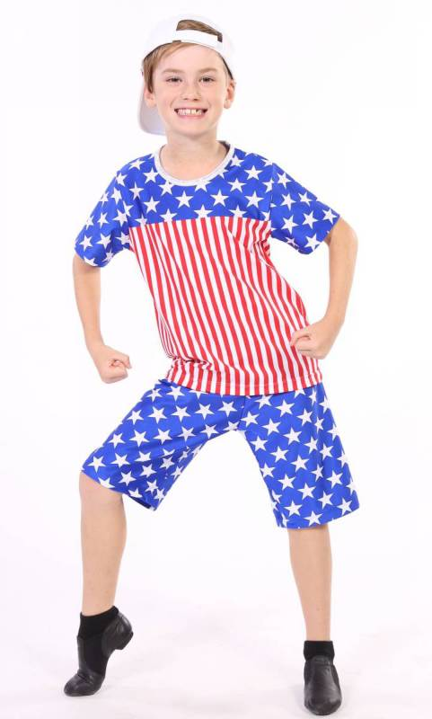 BORN IN THE USA - BOYS COSTUME - hat not i Dance Costume
