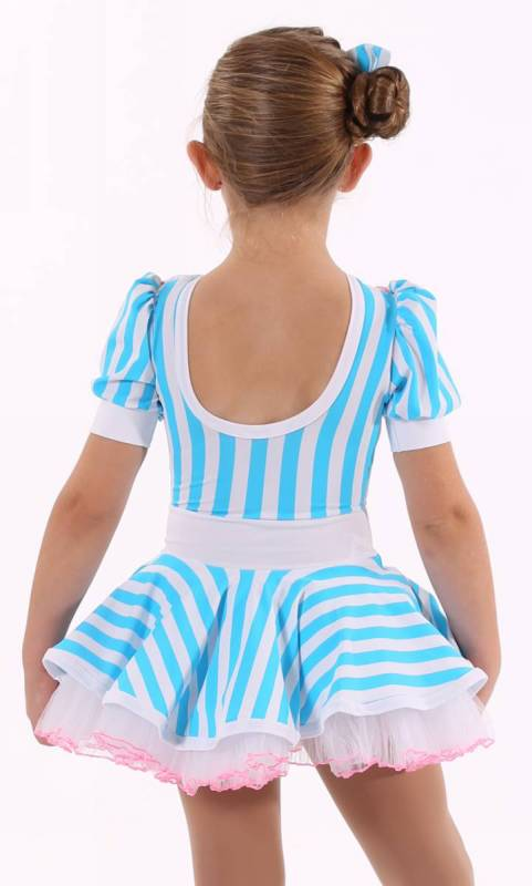 Milk Shake  - Blue and white stripe with pink trim